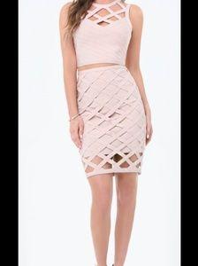 Courtney Cage Bangage Top & Skirt